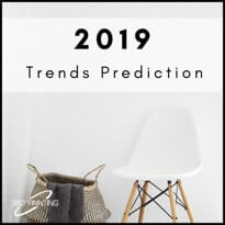 Chair and woven basket and text that says 2019 Trends Prediction