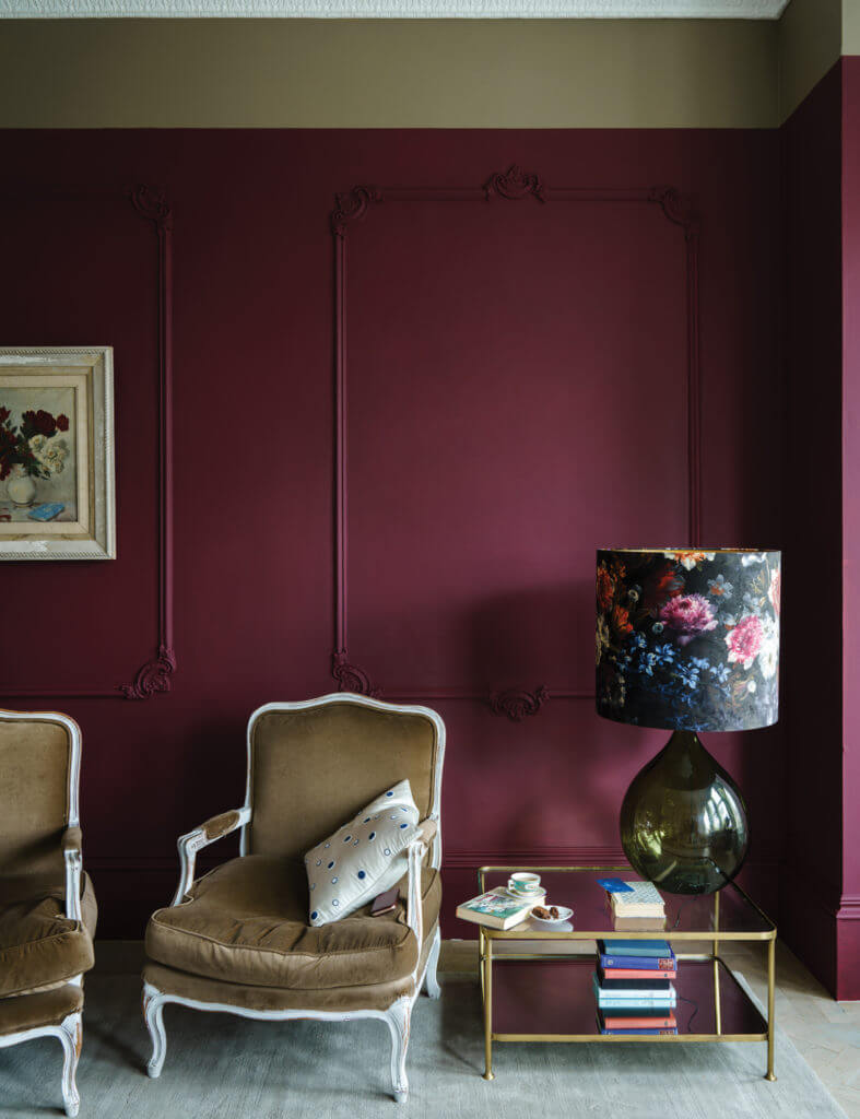 Room painted with Farrow and Ball paint