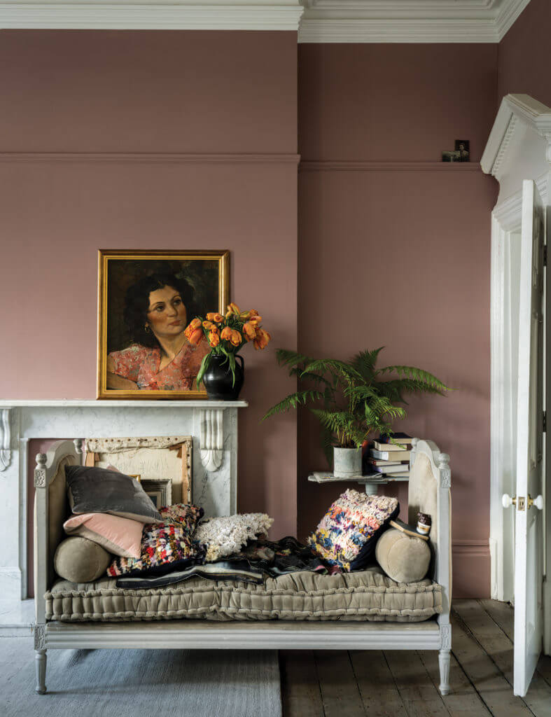 Sulking Room Painted with Farrow and Ball Paint