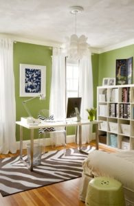 Office Space Painted Green
