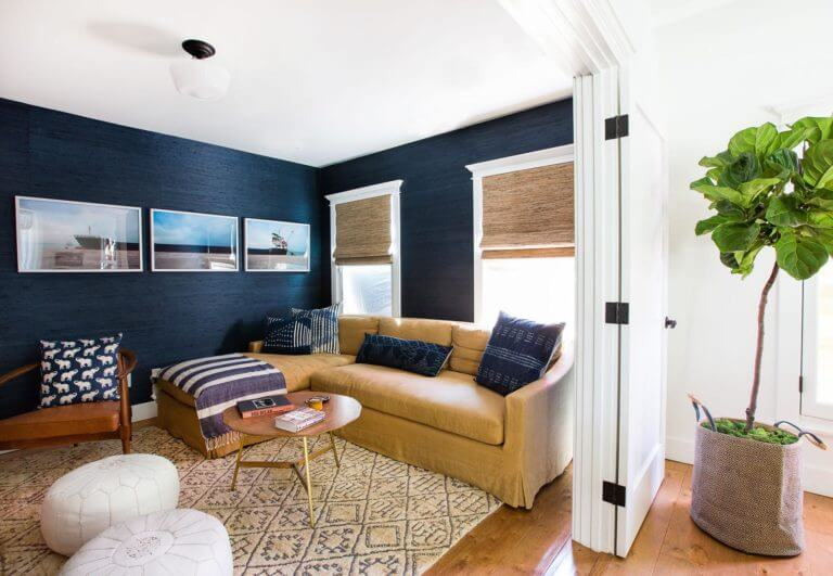 Fabric accent wall