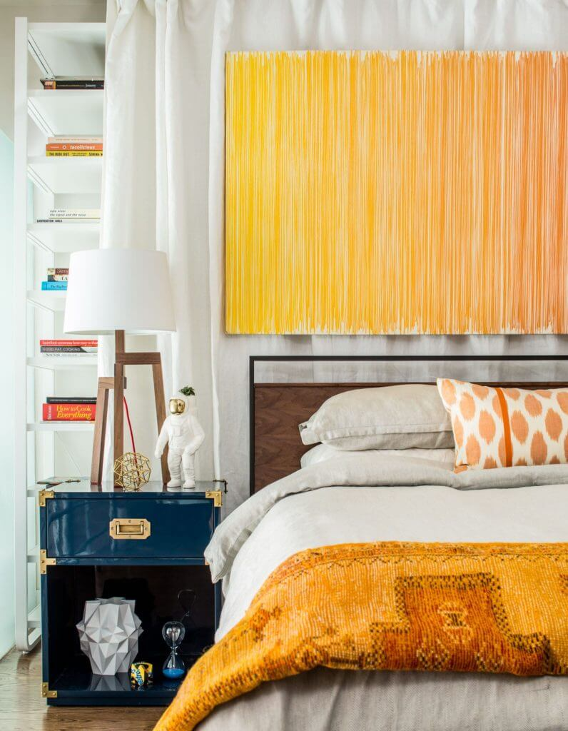 Bedroom painted with Homepolish Yellow Paint