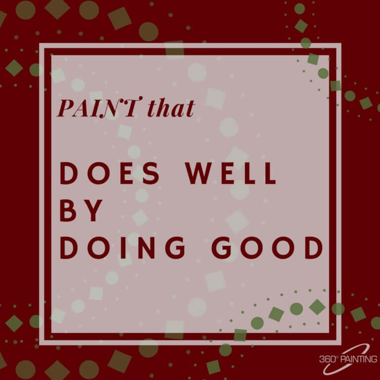 Paint that does well by doing good