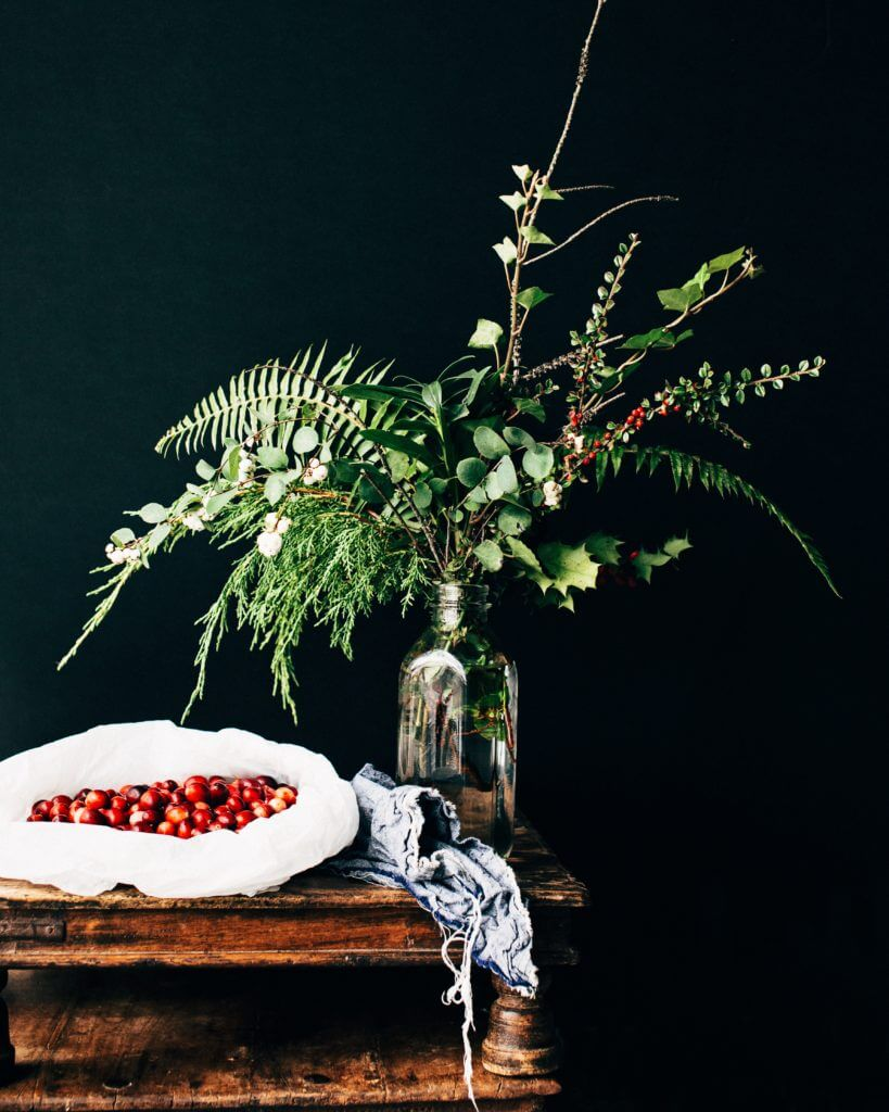 Cranberries and a plant