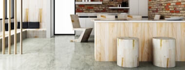 concrete and wood designed space