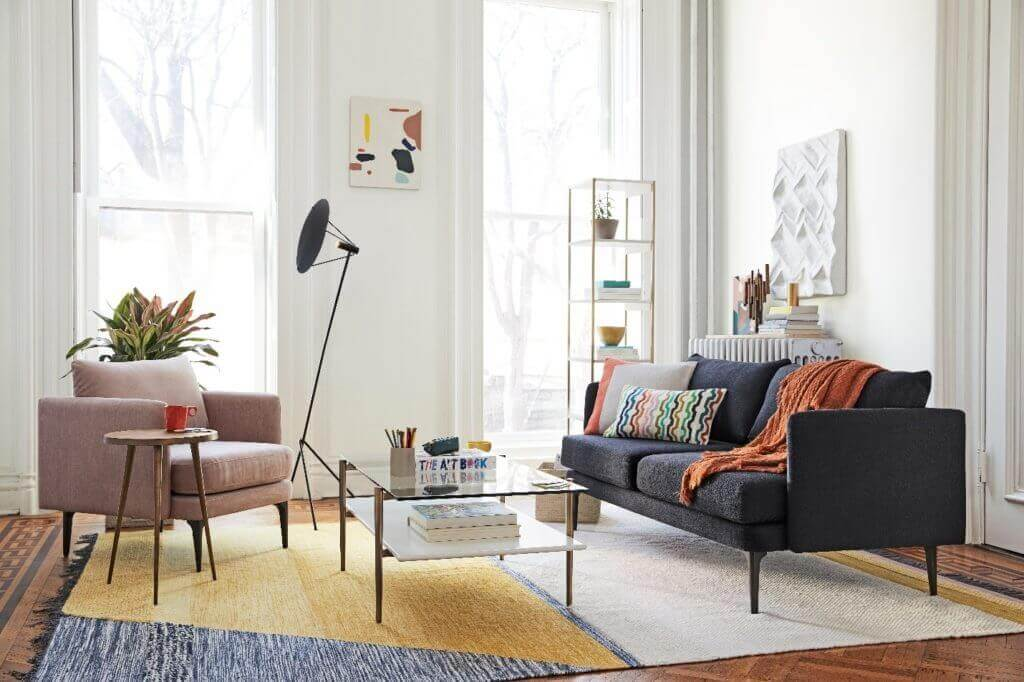 hinting white paint by sherwin williams for west elm living room