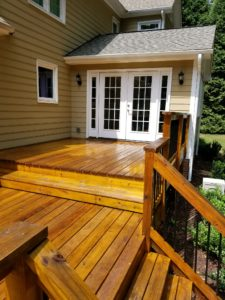 house after deck staining in Raleigh-Durham