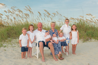 Gatonia-Rock Hill owners in family photo with their children
